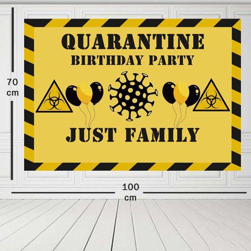 Karantina Doğum Günü Parti Afişi 70*100 cm, fiyatı