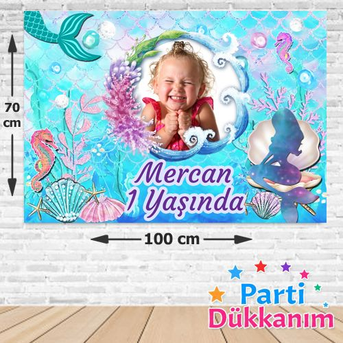 Deniz Kızı Doğum Günü Afişi 70*100 cm, fiyatı