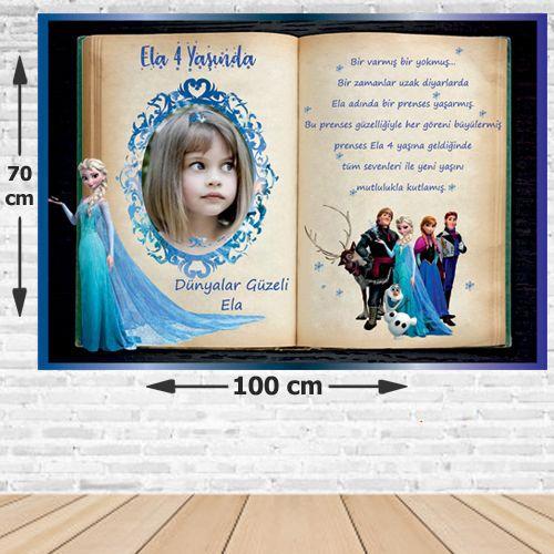 Elsa Masal Doğum Günü Afişi 70*100 cm, fiyatı