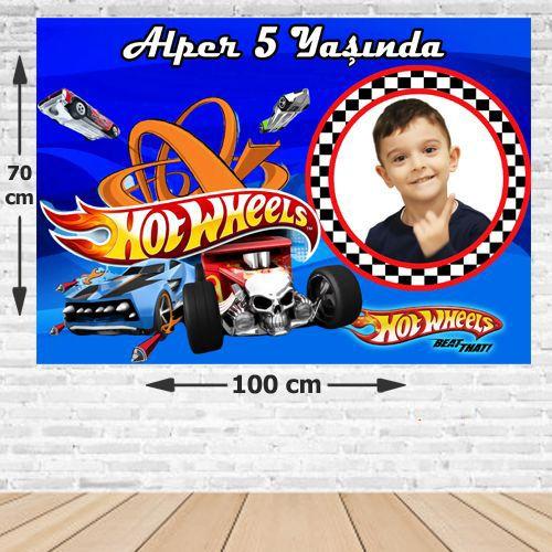 Hot Wheels Doğum Günü Afişi 70*100 cm, fiyatı