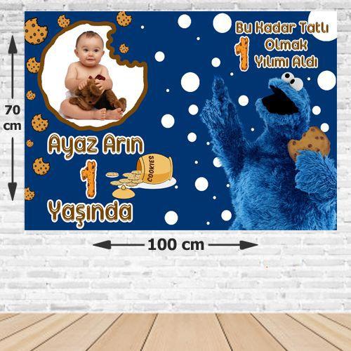 Kurabiye Canavarı Doğum Günü Afişi 70*100 cm, fiyatı