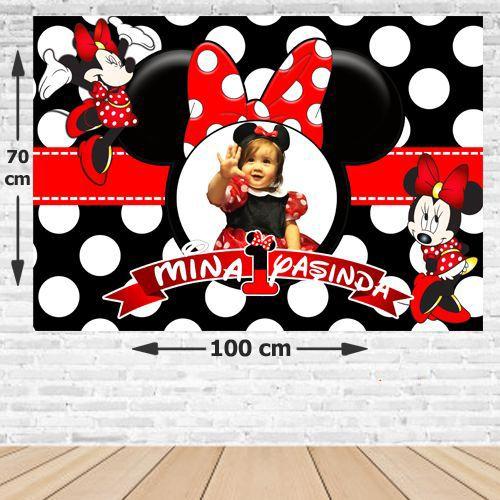Minnie Mouse Doğum Günü Afişi 70*100 cm, fiyatı