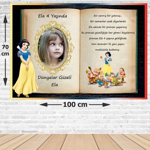 Pamuk Prenses Masalı Doğum Günü Afişi 70*100 cm, fiyatı