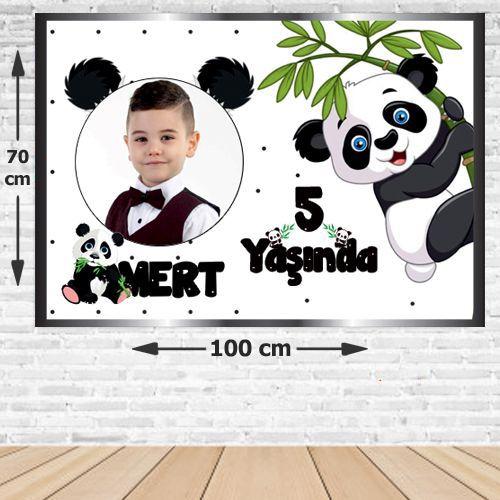 Panda Doğum Günü Parti Afişi 70*100 cm, fiyatı