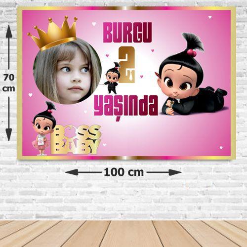 Patron Bebek Kız Doğum Günü Parti Afişi 70*100 cm, fiyatı