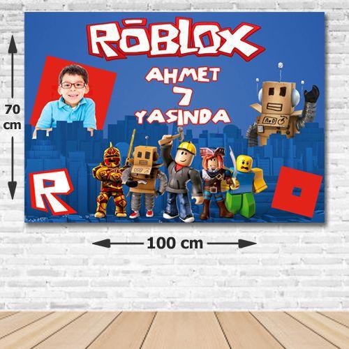 Roblox Doğum Günü Parti Afişi 70*100 cm, fiyatı