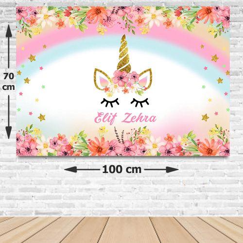 Unicorn İsme Özel Doğum Günü Afişi 70*100 cm