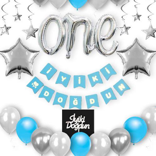 Doğum Günü Süsleri Seti 1 Yaş Erkek, fiyatı