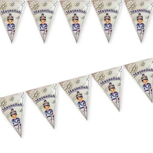 Maşallah Flama Bayrak Süs Gümüş (2 m.), fiyatı