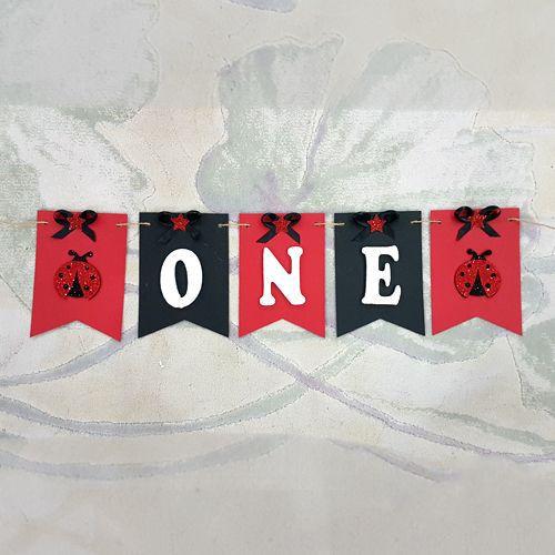 Uğur Böceği Kırmızı Siyah One Yazısı 60 cm, fiyatı