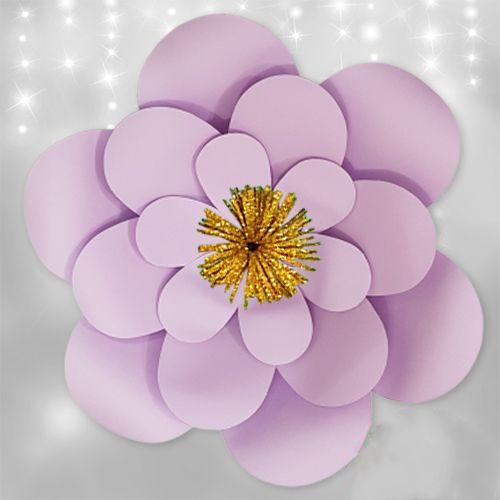 Lila Kağıt Çiçek 1 Adet (30 cm), fiyatı