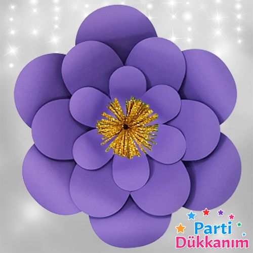 Mor Kağıt Çiçek 1 Adet (30 cm), fiyatı