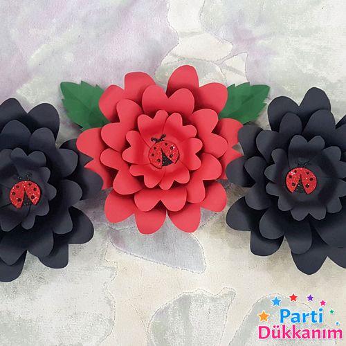 Uğur Böceği Kağıt Çiçek Dekor Set, fiyatı