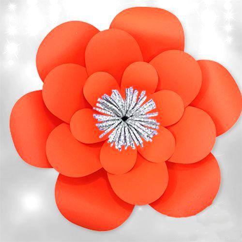 Turuncu Kağıt Çiçek 1 Adet (30 cm), fiyatı