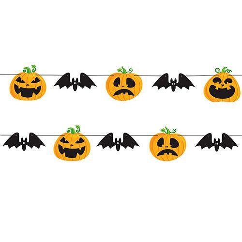 Halloween Balkabağı Dekoratif Banner 250 cm, fiyatı