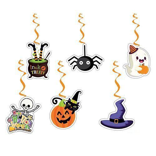 Cadılar Bayramı Hallowen Asma Tavan Süs 6 Adet