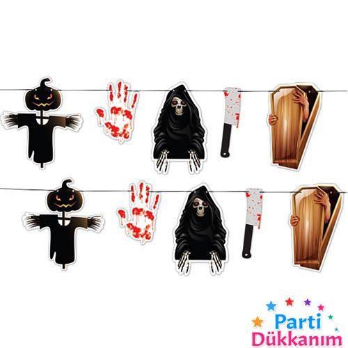 Halloween Cadılar Bayramı Dekoratif Banner 250 cm, fiyatı