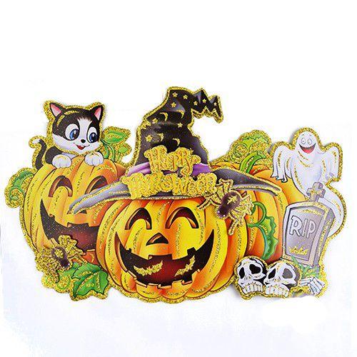 Happy Halloween Poster Dekor Süs Simli 2D, fiyatı