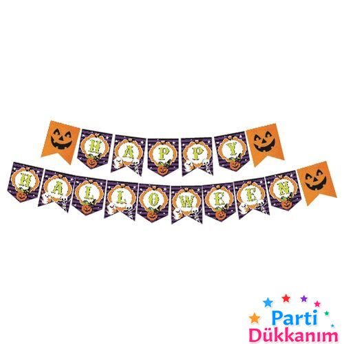 Cadılar Bayramı Happy Hallowen Yazısı 260 cm, fiyatı