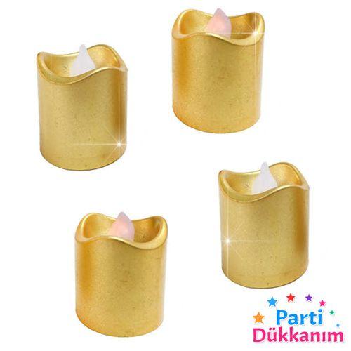 Led Işıklı Mum Gold 1 adet, fiyatı