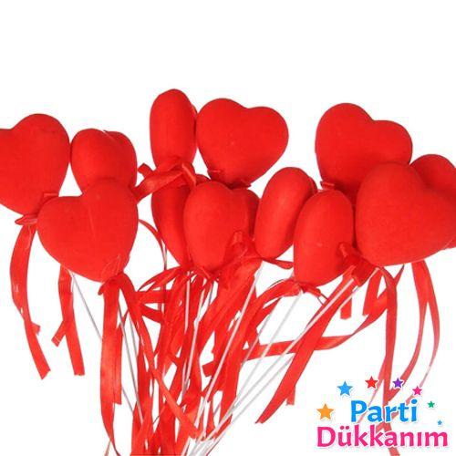 Çubuklu Kalp Köpük Süs (12 Adet), fiyatı