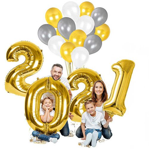 2021 Rakam Folyo Balon 100 cm, fiyatı