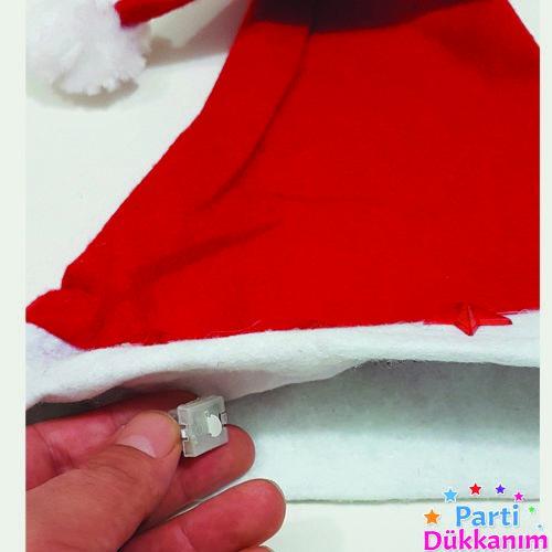 Noel Baba Şapkası Kalpli Led Işıklı, fiyatı
