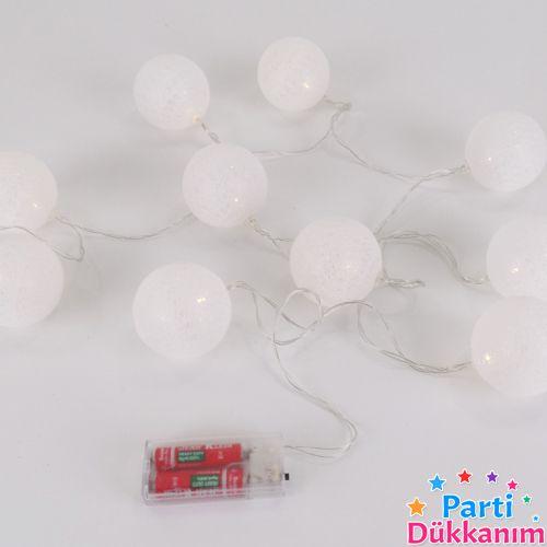 Beyaz Pilli Top Led Işık 2 Metre, fiyatı