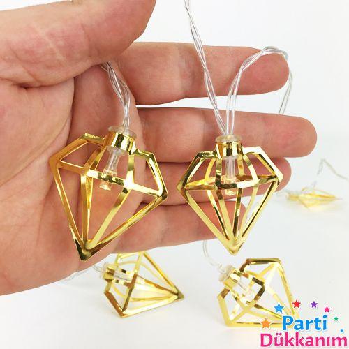 Kristal Figürlü Metal Led Işık 2 Metre, fiyatı