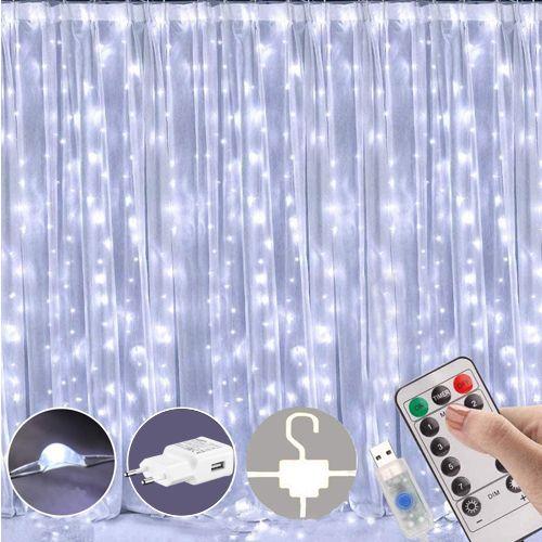 Peri Led Işık Kumandalı Askılı Adaptörlü Usb Girişli Beyaz 250x250 cm, fiyatı