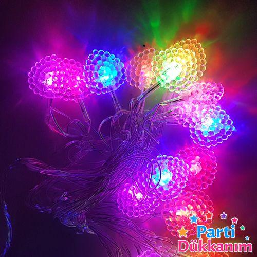 Karışık Renk Hareketli Yaprak Led Işık (3 metre), fiyatı