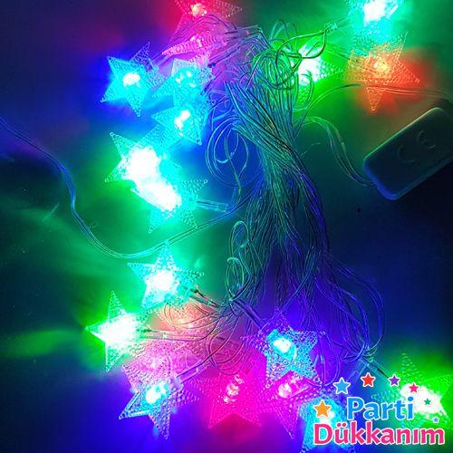 Karışık Renk Hareketli Yıldız Led Işık (3 metre), fiyatı