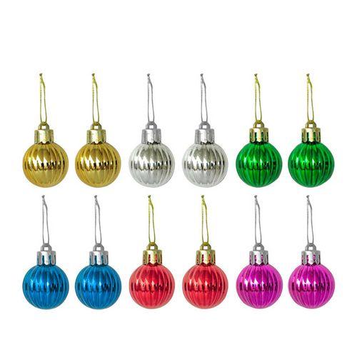 Renkli Top Yılbaşı Ağaç Süsü 12 Adet, fiyatı