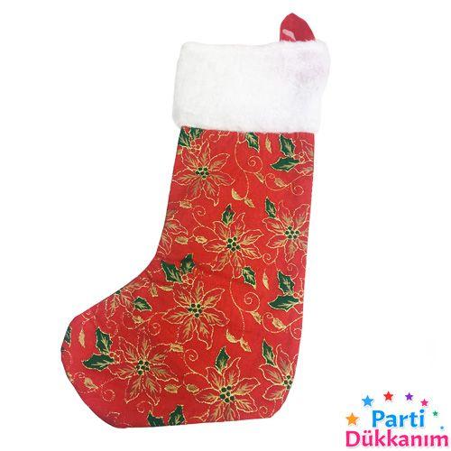 Yılbaşı Gold Parlak Dikişli Çorap 43 cm, fiyatı