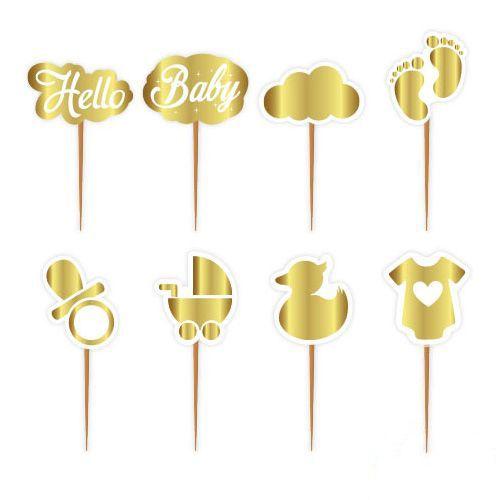 Hello Baby Gold Kürdan 8 Adet, fiyatı