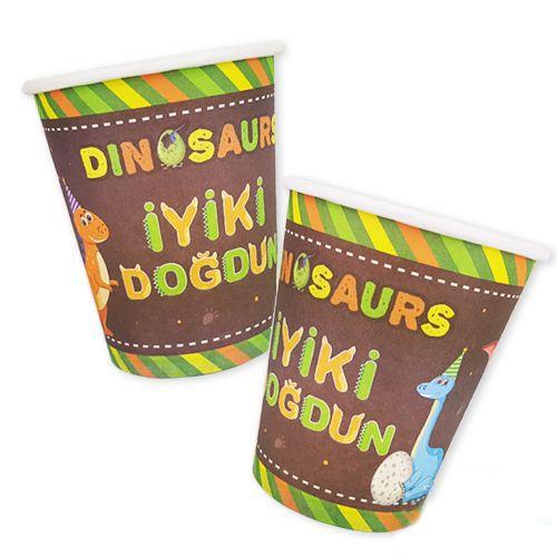 Dinozor Bardak (8 Adet), fiyatı