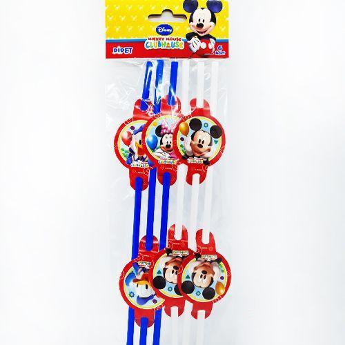 Mickey Mouse Körüklü Pipet 6 Adet, fiyatı