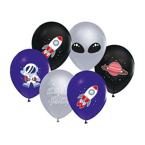 uzay temalı baskılı balon