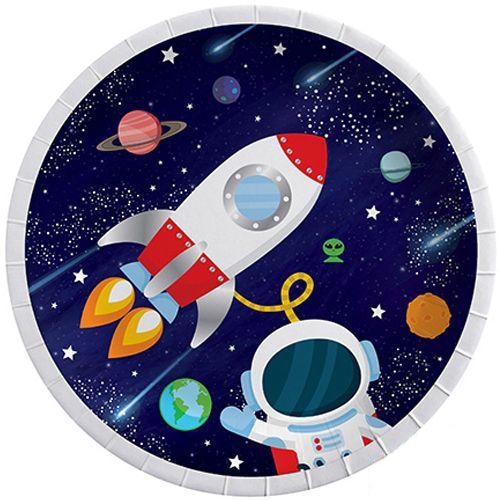 uzay temalı tabak