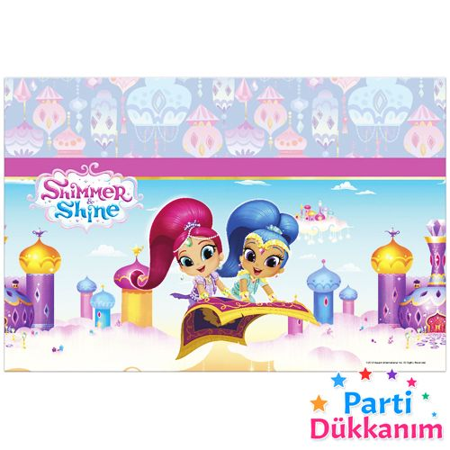 Shimmer & Shine Masa Örtüsü (120x180 cm), fiyatı