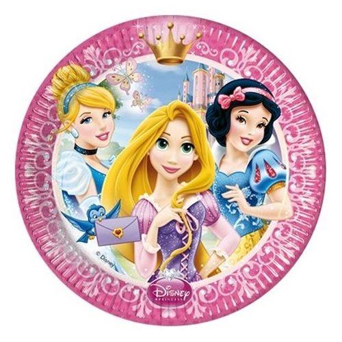 Prensesler Temalı Tabak 8 Adet, fiyatı
