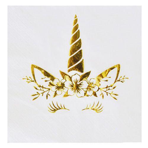 Unicorn Gold Varaklı Peçete 16 adet, fiyatı