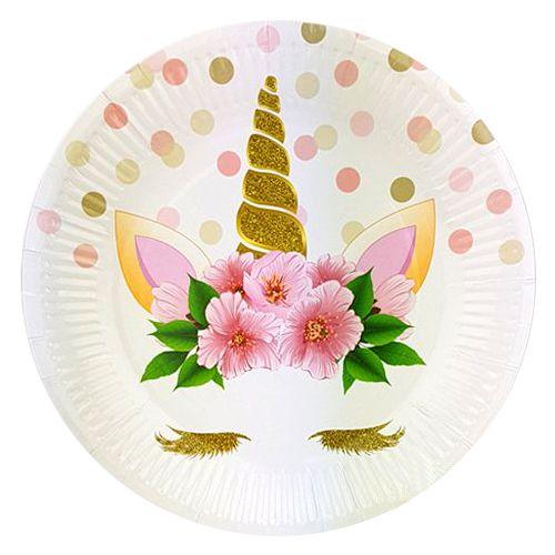 Unicorn Çiçekli Tabak (8 adet), fiyatı