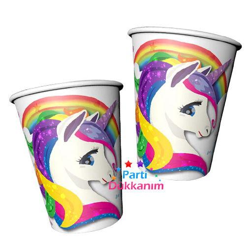 Unicorn Rainbow Karton Bardak (8 adet), fiyatı