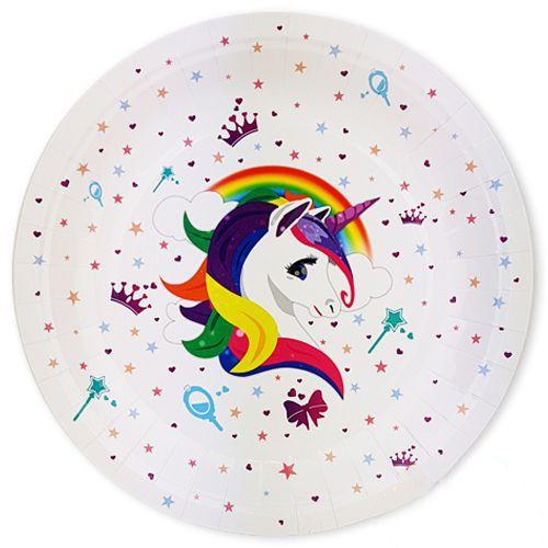 Unicorn Rainbow Karton Tabak (8 adet), fiyatı