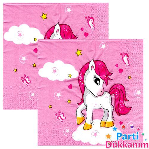 Unicorn Pembe Peçete (20 adet), fiyatı
