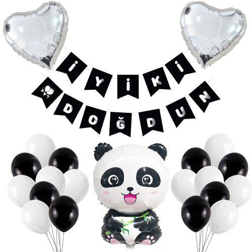 Panda Temalı Doğum Günü Süsleri Seti, fiyatı