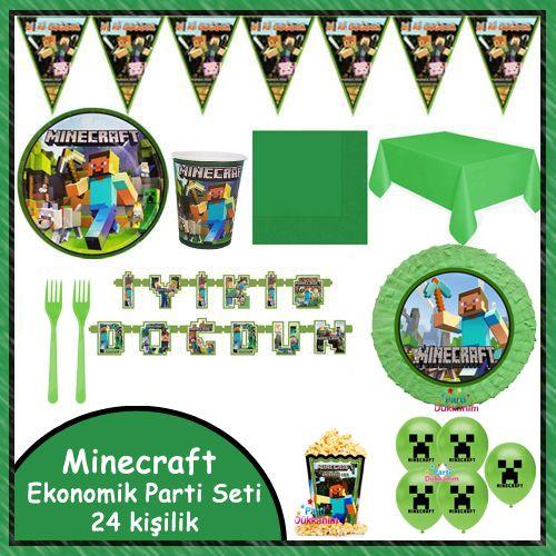 Minecraft Ekonomik Parti Seti 24 Kişilik, fiyatı