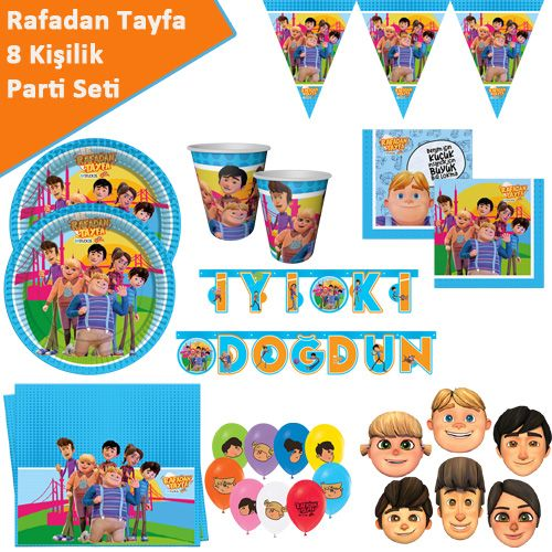 Rafadan Tayfa Parti Seti 8 Kişilik, fiyatı