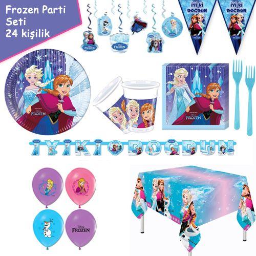 Frozen Snowflakes 24 Kişilik Parti Seti, fiyatı